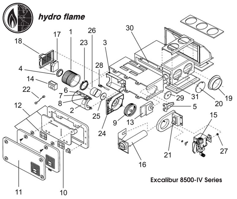 Atwood Hydro Flame Furnace Parts Diagram