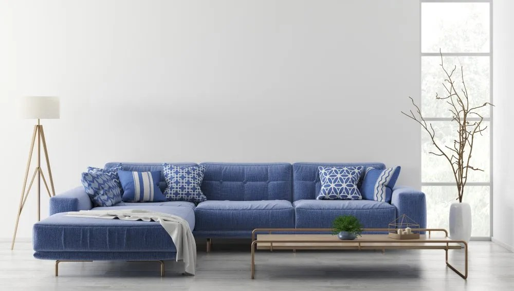 The soft and spacious L-shaped sofas