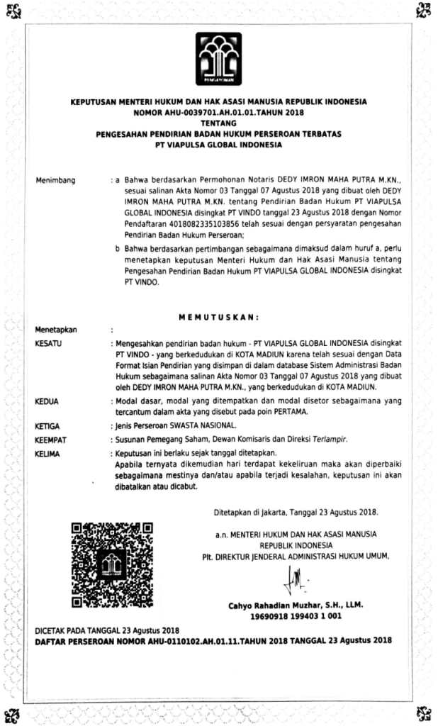 convert pulsa di PT. VIAPULSA GLOBAL INDONESIA