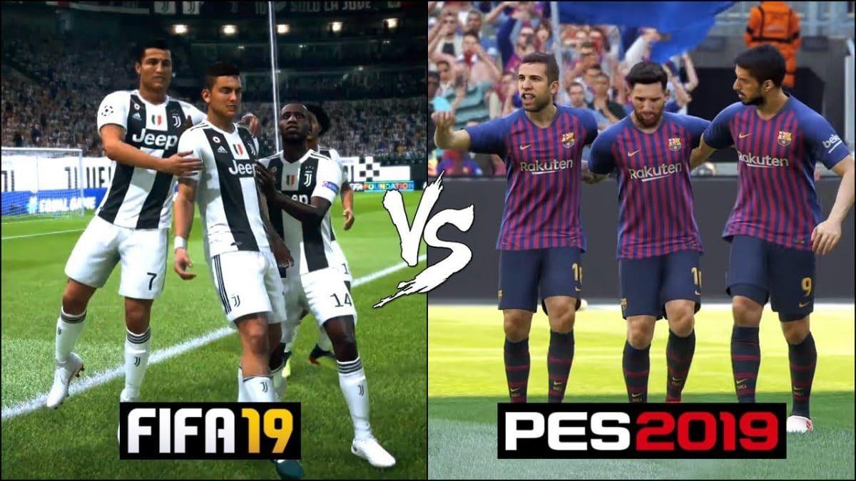 Perbandingan FIFA19 Dengan PES2019