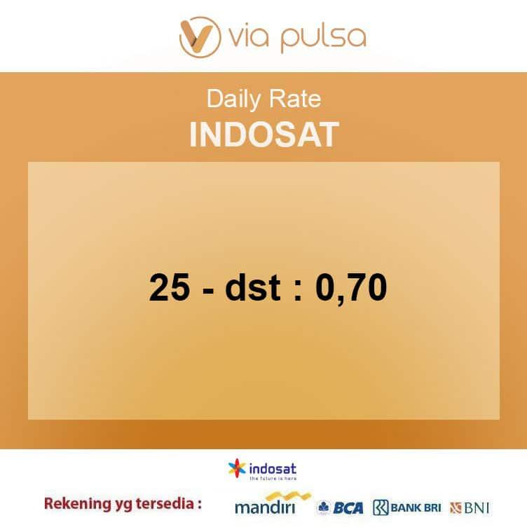 Rate Convert Pulsa Indosat Viapulsa
