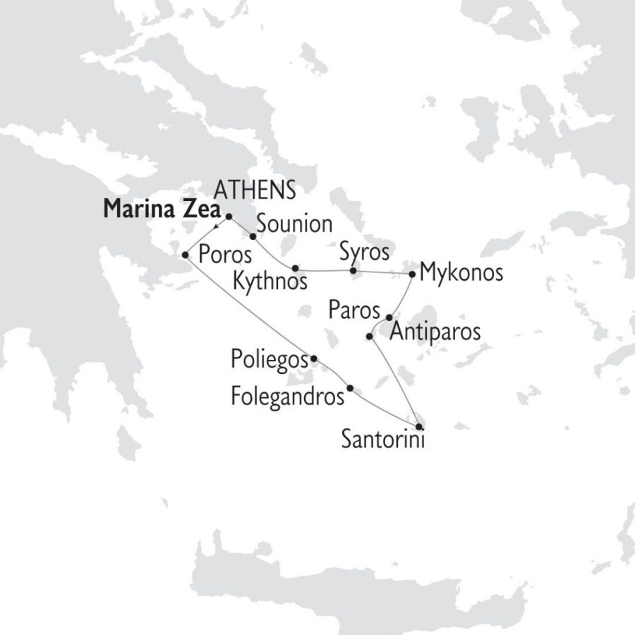 Ruta Crucero Islas Griegas Joyas de las Cícladas 8 días