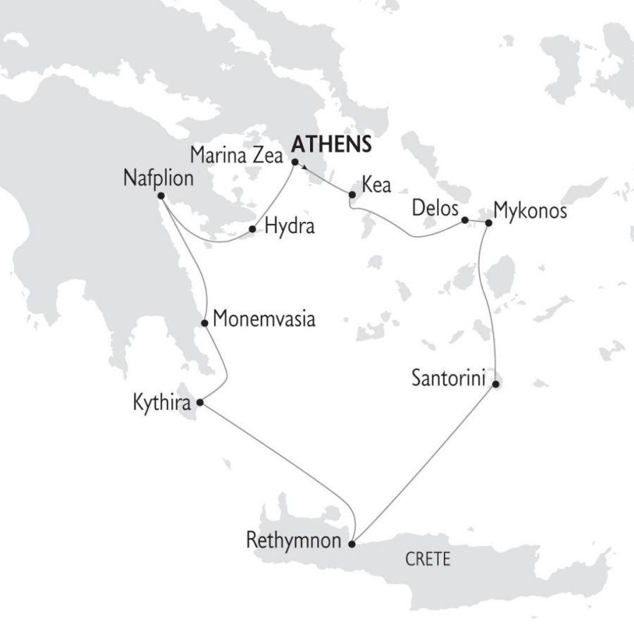 Ruta Crucero La Grecia Historica por las Islas Griegas 8 días