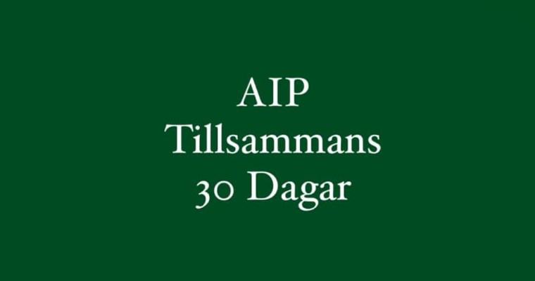 AIP – tillsammans start 4 oktober, Fullbokad