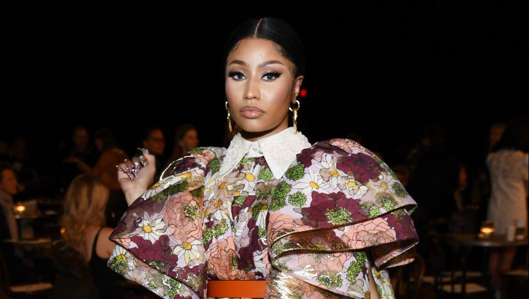 Nicki Minaj Wearing Colorful Dress