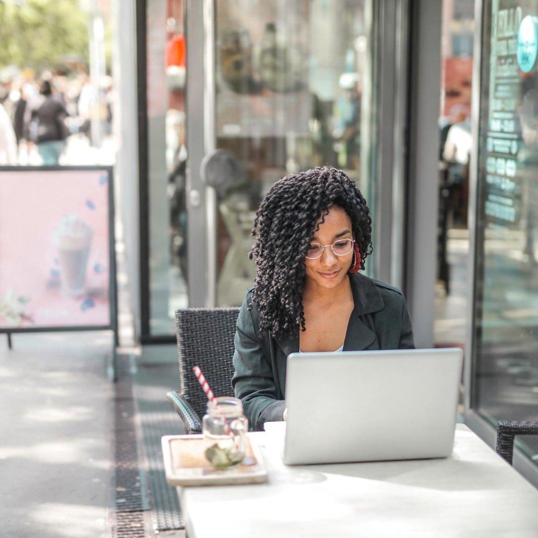 Blogging at a cafe
