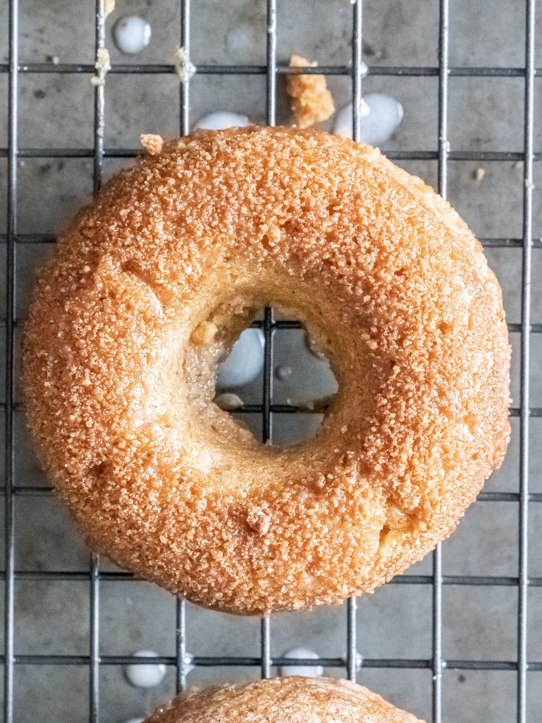 Gluten free pumpkin donuts spiced sugar