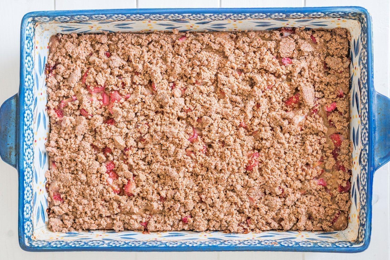 Strawberry Rhubarb Coffee Cake Pan