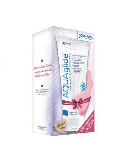 Love bundle - kit exclusivo aquaglide 200ml + 3 soft lubricantes