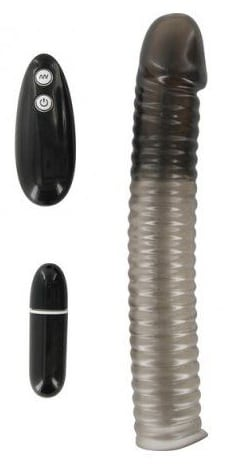 Funda para pene con vibración range x-tender-r negro