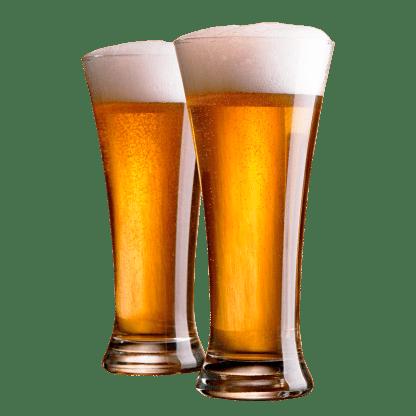 2 øl i glas