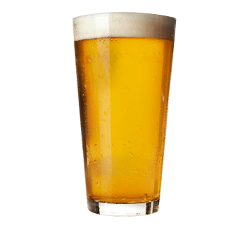 Lys øl i glas