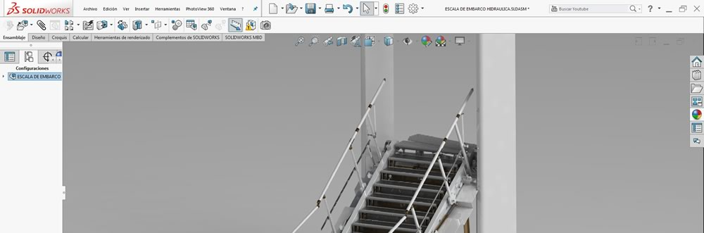 Escalera solidworks