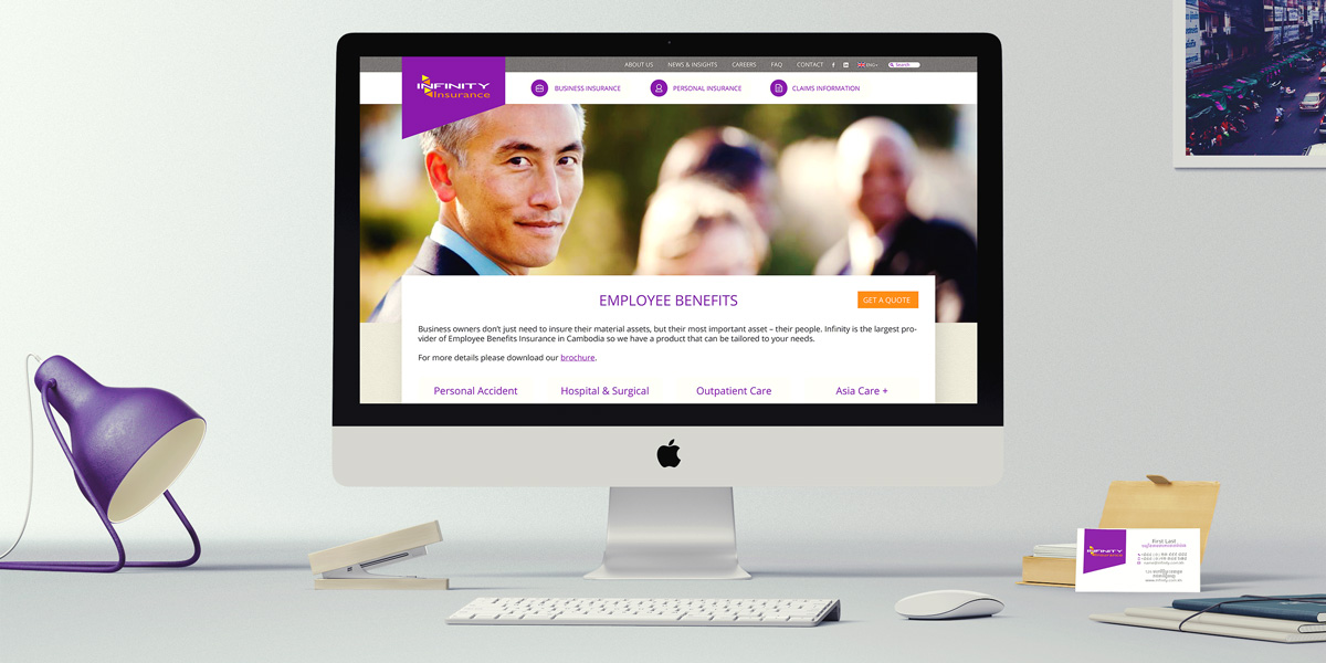 Infinity Insurance Desktop Website