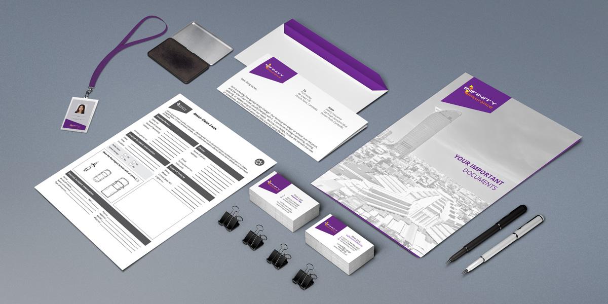 Infinity Insurnace Stationery Package