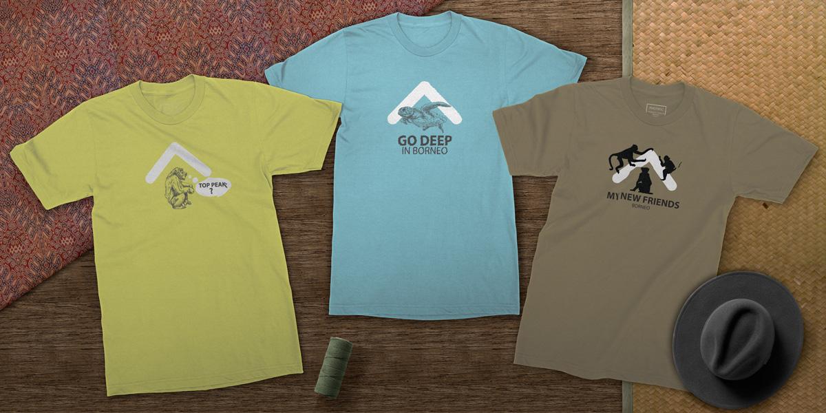 Top Peak Travel Borneo T-Shirt Designs