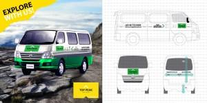 Top Peak Travel Borneo Van Design