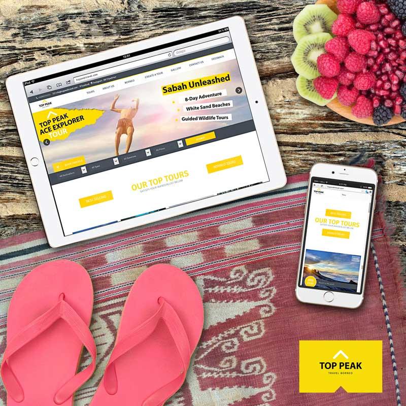 Top Peak Travel Borneo Website Project
