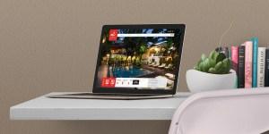 Villa Langka Hotel Desktop Website Design