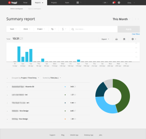 The Toggl Time Tracking Dashboard
