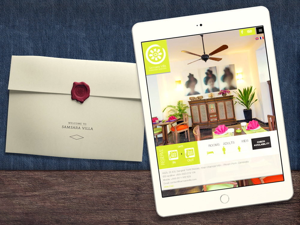 Camsara Villa Website Design