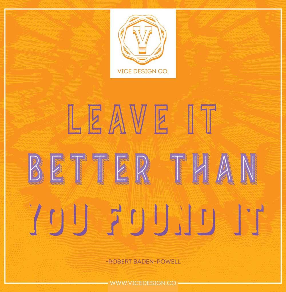 Rebranding philosopy quote by Robert Baden Powell