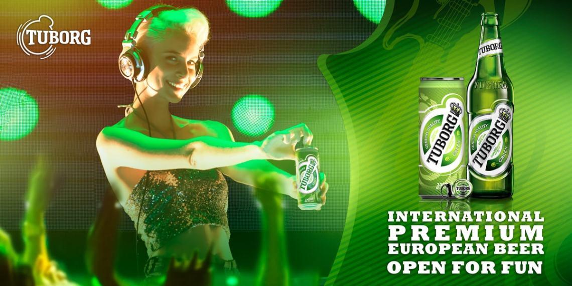 Tuborg DJ KV image for billboard ads