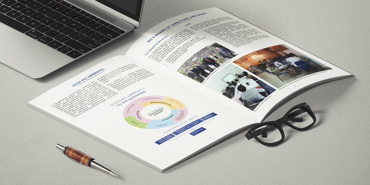 Parliamentary Institute of Cambodia brochure design