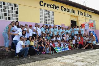 Equipe da saúde bucal visita Creche Casulo Tia Luiza em Vicência