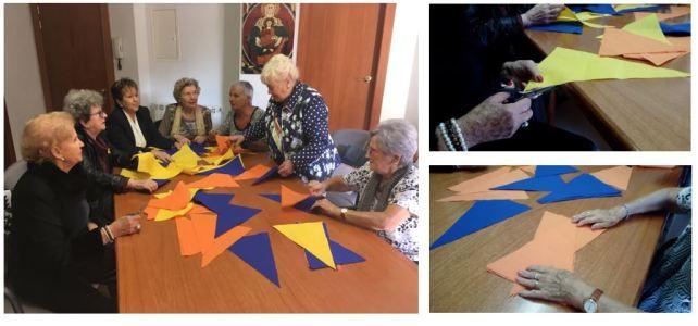 Diverses associacions de la ciutat participen als tallers de decoració del Mercat Medieval