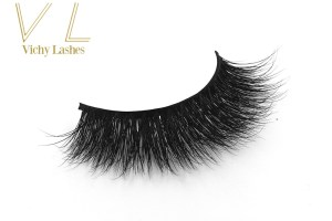 Custom Packaging Wholesale Real Mink Fur Black Band 3D Mink Lashes