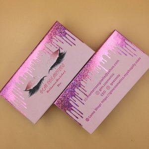 Eyelash Pink Packaging Boxes