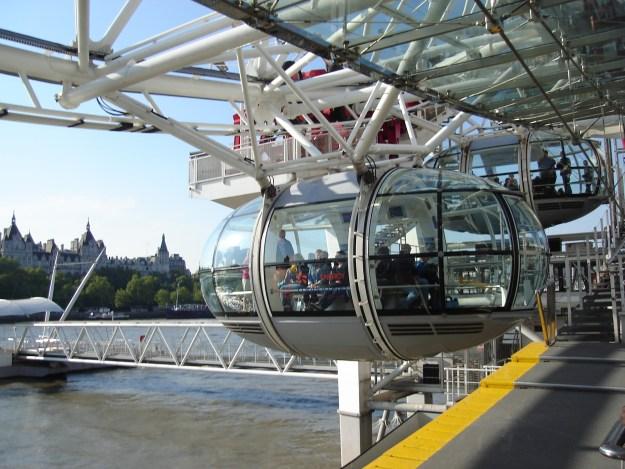 A London Eye é essa gôndola aí. Foto: Marcelle Ribeiro.