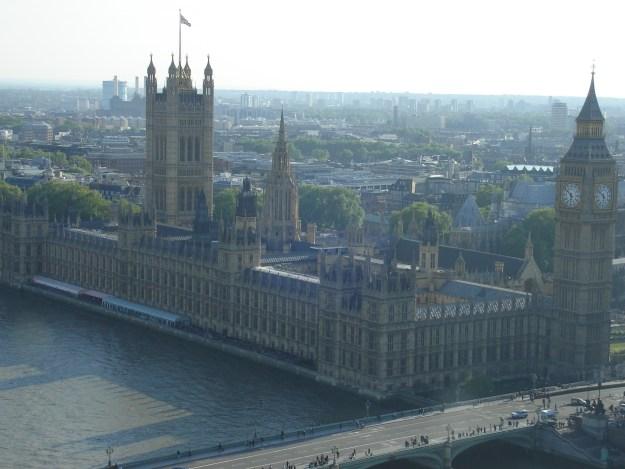 A vista do Parlamento e do Big Ben. Foto: Marcelle Ribeiro