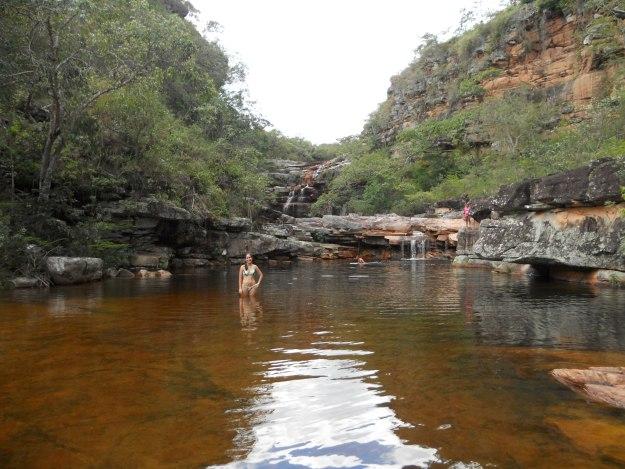 As piscinas no alto da cachoeira dos Mosquitos. Foto: Marcelle Ribeiro