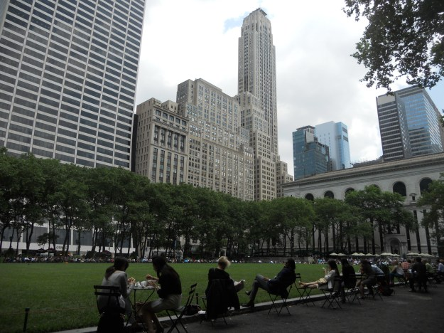 Bryant Park, em Nova York. Foto: Marcelle Ribeiro