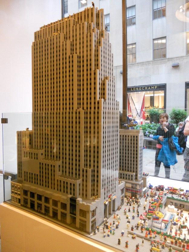 O Rockefeller Center em miniatura na loja da Lego. Foto: Marcelle Ribeiro