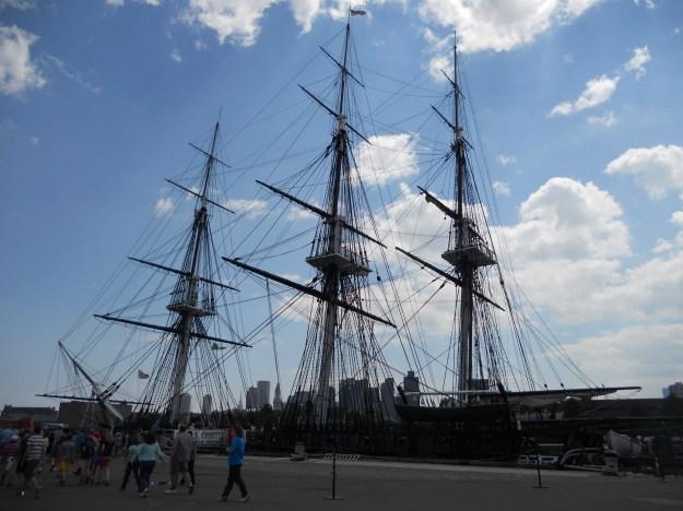 Navio USS Constitution, em Boston. Foto: Marcelle Ribeiro