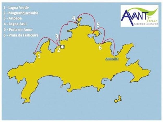 meia volta ilha grande mapa