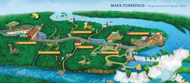 cataratas do iguacu lado brasileiro mapa