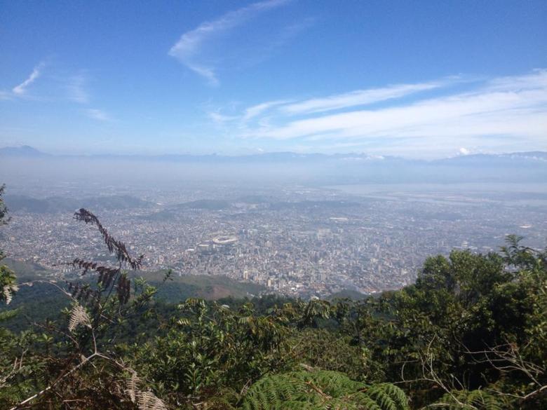 A zona norte vista do Pico da Tijuca. Foto: Marcelle Ribeiro.