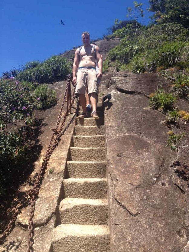 escada homem pico da tijuca
