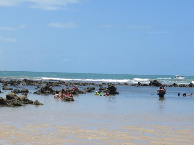 Praia do Centro de Pipa. Foto: Marcelle Ribeiro.