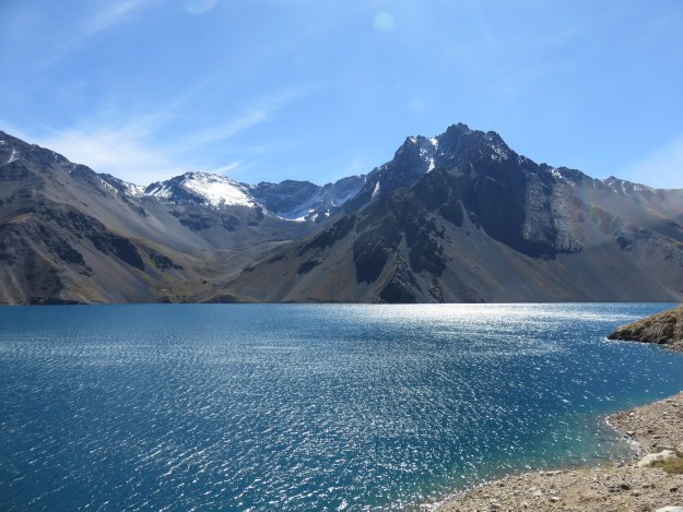 Embase el Yeso, represa linda perto de Santiago. Foto: Marcelle Ribeiro.