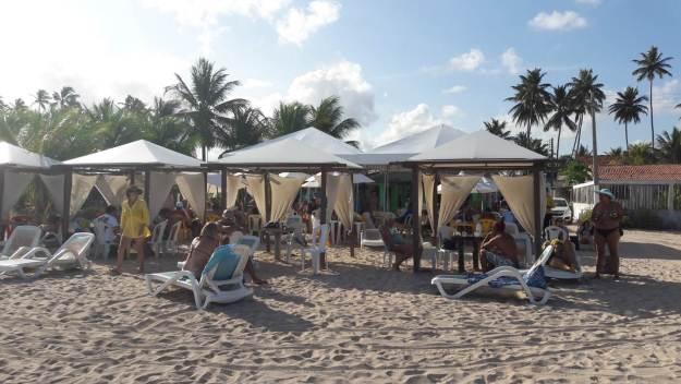 Restaurante Burgalhau, na Praia de Burgalhau, em Maragogi. Foto: Marcelle Ribeiro