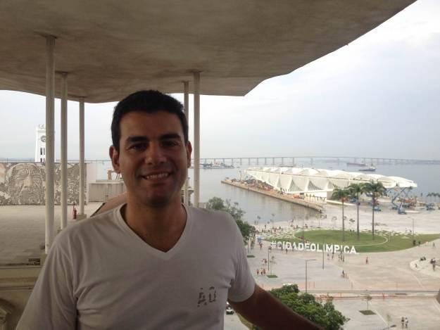 Vista do alto do Museu de Arte do Rio (MAR). Foto: Marcelle Ribeiro.