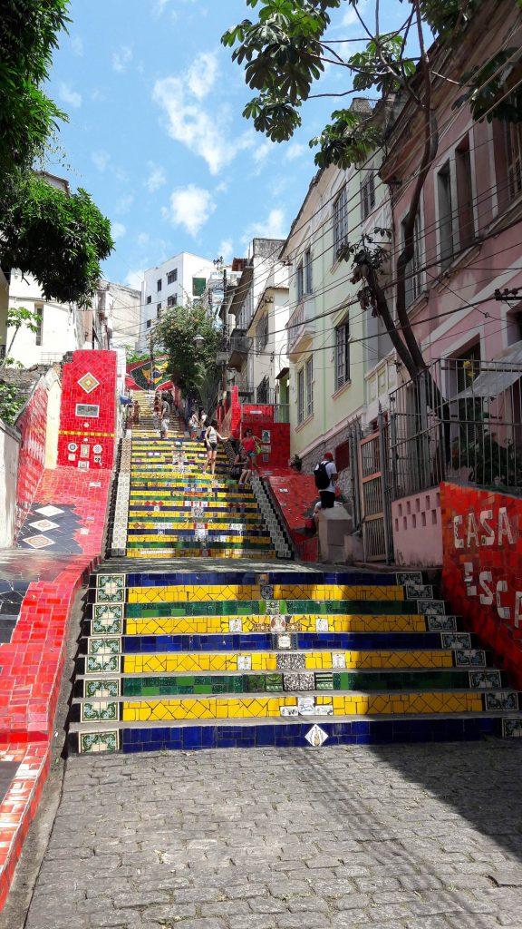 A Escadaria Selarón é uma atração imperdível na Lapa. Foto: Marcelle Ribeiro