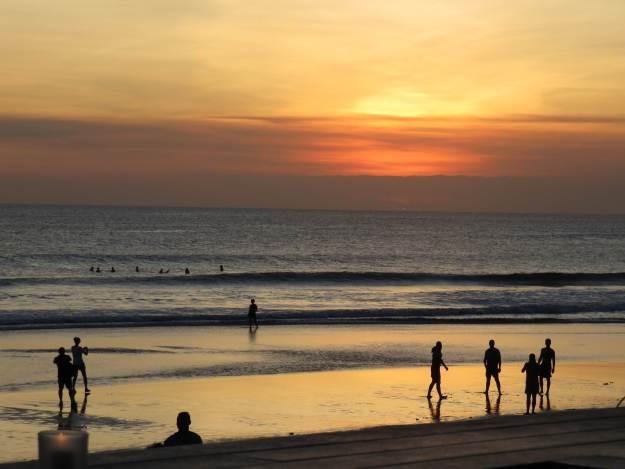 Pôr do sol em Seminyak. Foto: Marcelle Ribeiro