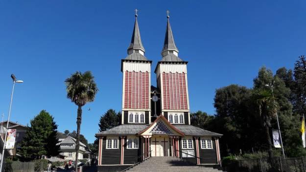 Igreja San Sebastián, em Panguipulli.