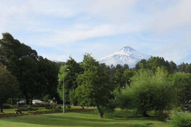 Vulcão Villarica, na região de La Poza, no centrinho de Pucón.